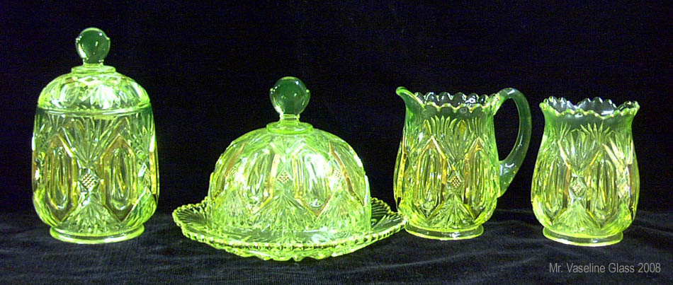 Vaseline Glass Collectors Inc 187 Eapg Extravaganza
