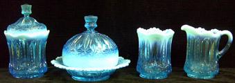 Iris Blue table set