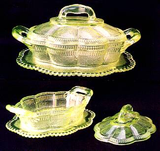quot lornequot  butter dish  made by bryce bros  co