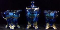 Blue Swag & Brackets Table set